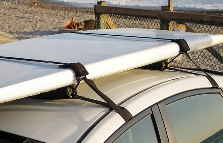 Paddleboard on top of car