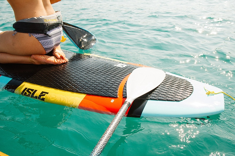 How to kneel on a paddleboard