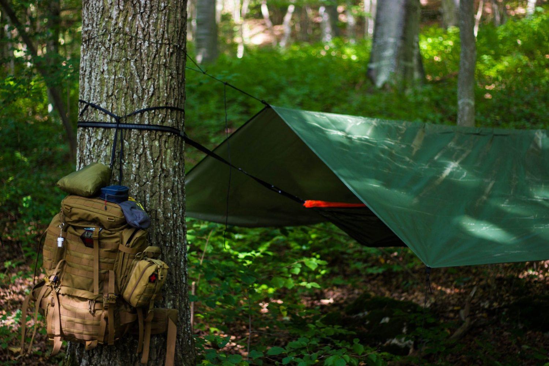 Hammock Camping with Rain Tarp