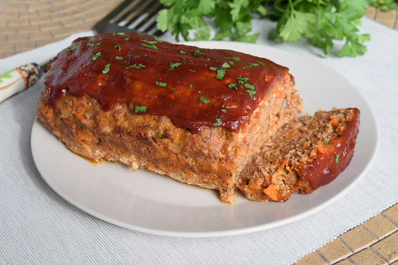 Loaf of venison meatloaf