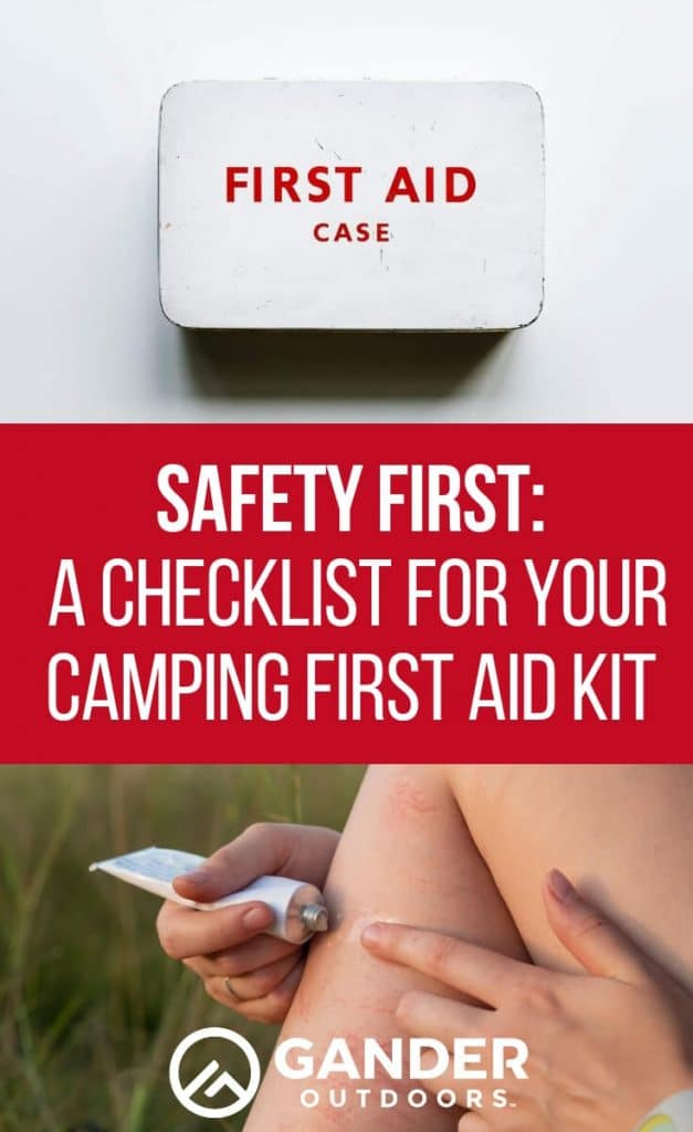 A checklist for your camping first aid kit