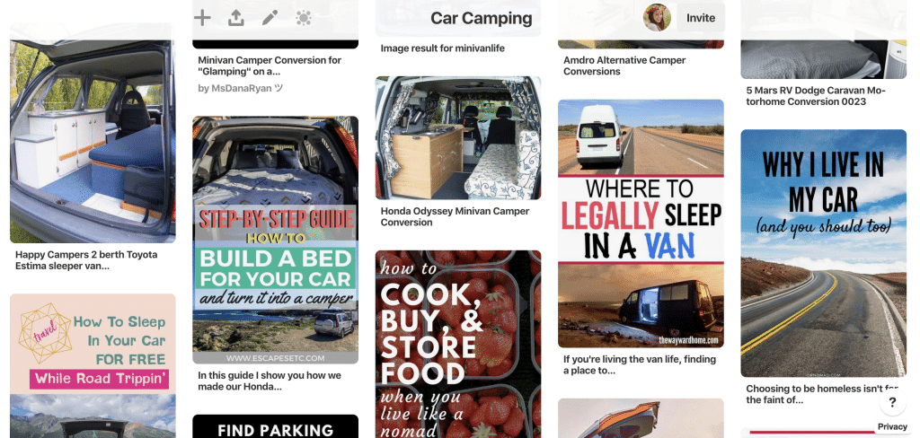 Car camping inspiration on Pinterest