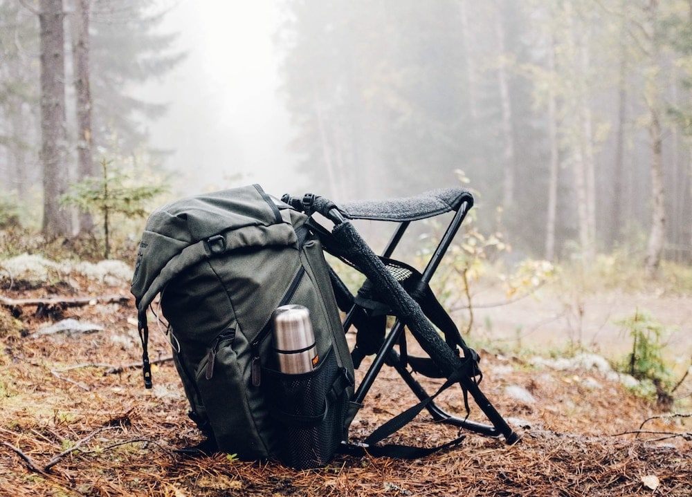 A hunting backpack and seat for posting