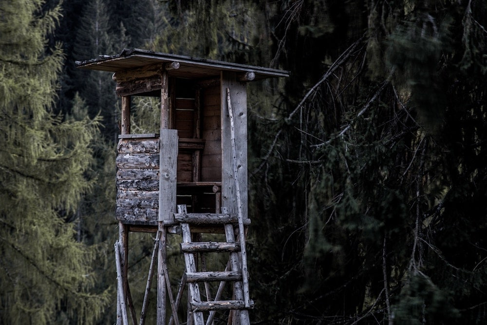 Elevated hunting stand, tower stand