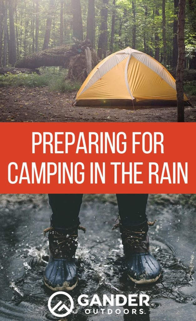 Preparing for camping in the rain