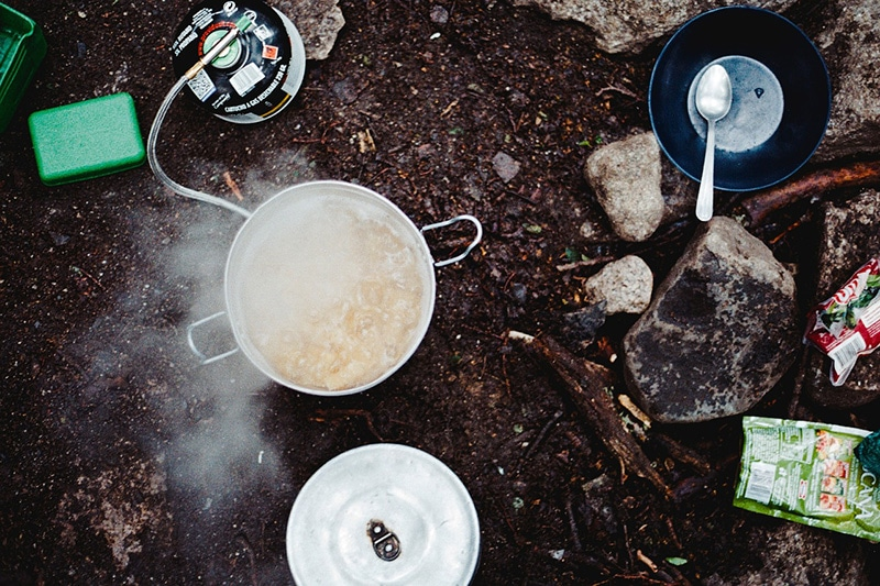 Personal cooking system for camping