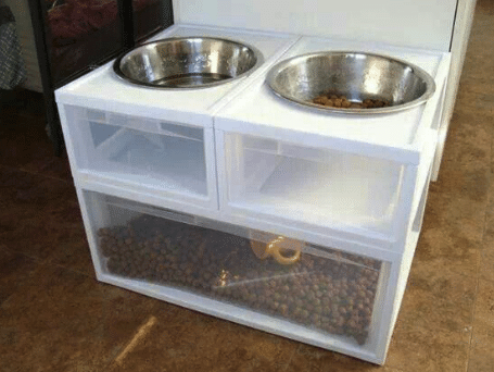 How-to-Keep-Your-RV-Interior-Clean-When-Traveling-with-Pets-dog-bowl-station