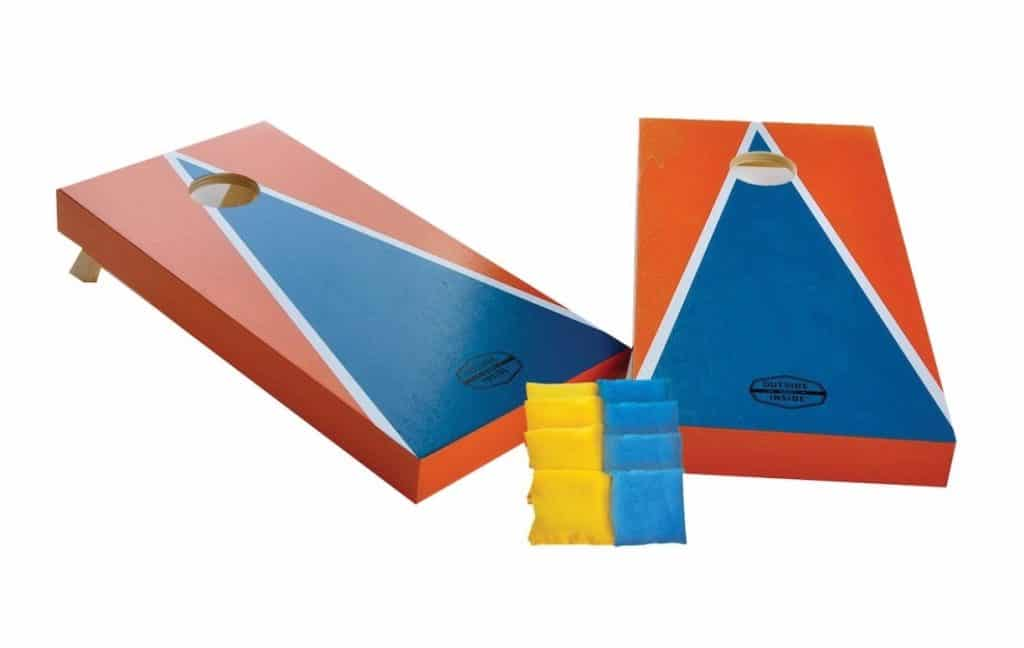 Play cornhole as a family camping activity