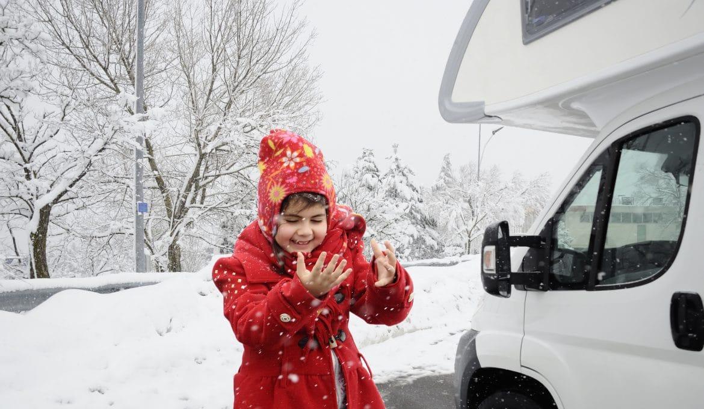 Snowy RV Girl