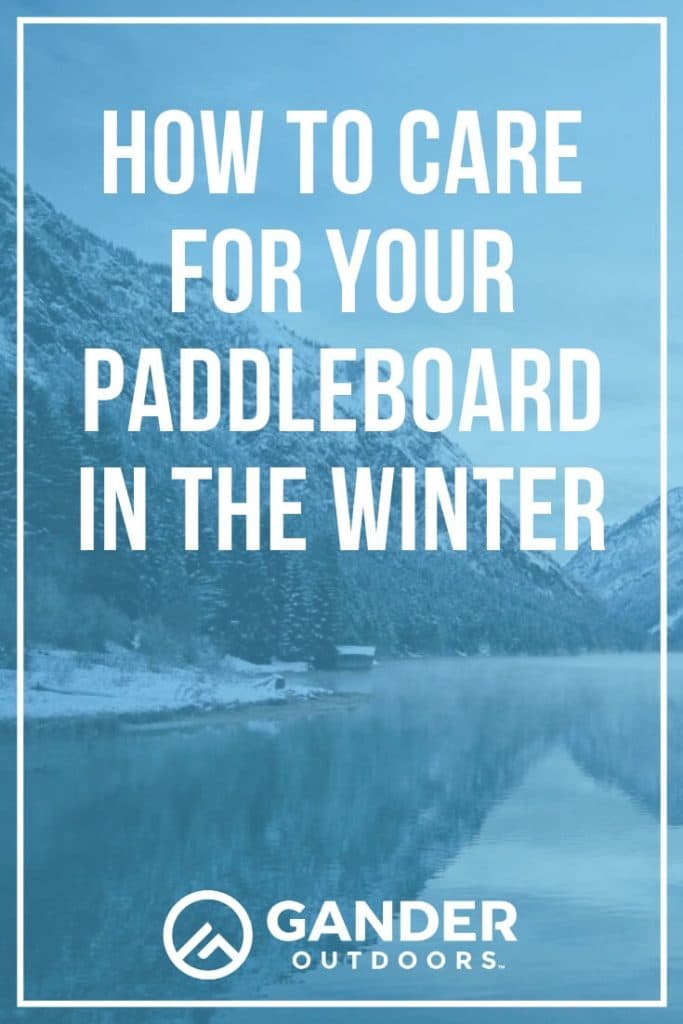 When it gets cold outside, some people put their paddleboards away until warmer weather and others enjoy cold weather paddleboarding trips. If you don't plan on doing any winter paddleboarding, you'll want to make sure that you've stored your paddleboard well through the winter. Here's what you need to do to care for your paddleboard in the winter. #paddleboarding #paddleboard #watersports