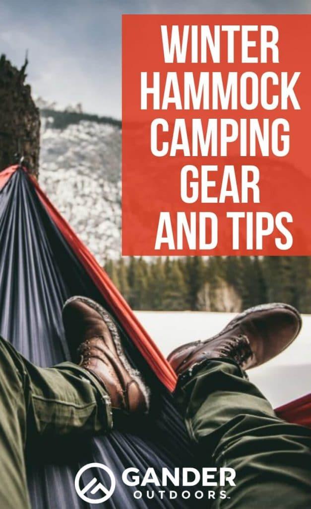 Winter hammock camping gear and tips