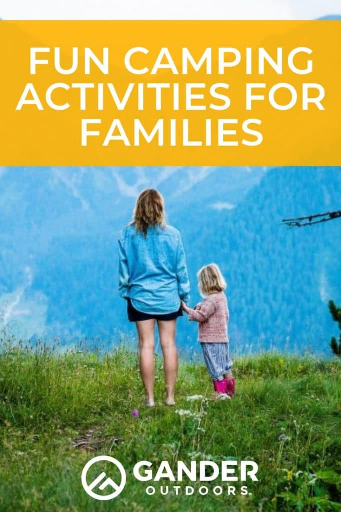 If you're planning your next camping trip and looking for some fun camping activities for families, you are in luck! There are SO many activities out there to make your next family vacation really special. Whether you're camping in an RV or camping in a tent, this post will have plenty of camping activity ideas for the whole family. #camping #campingtips #campinghacks #familycamping