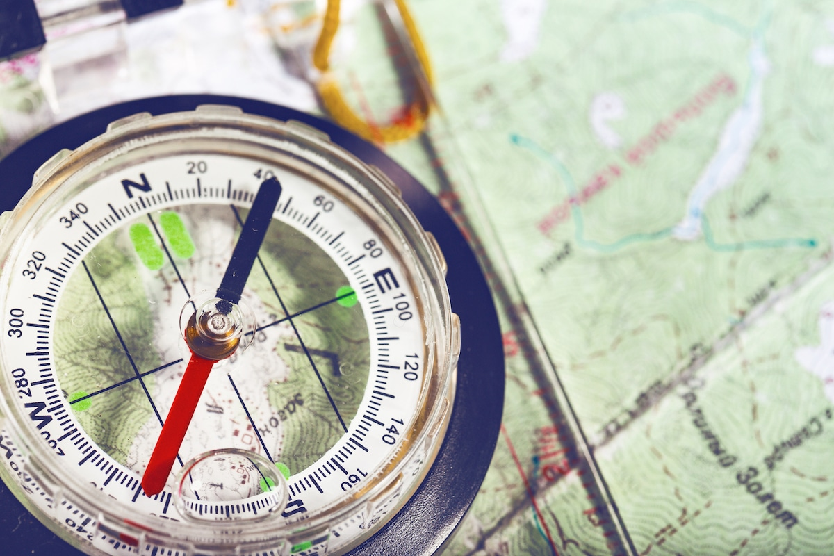 A compass and map for navigating