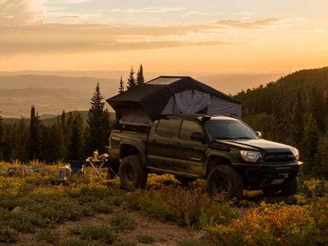 Tacoma Truck with Roof Top Tent