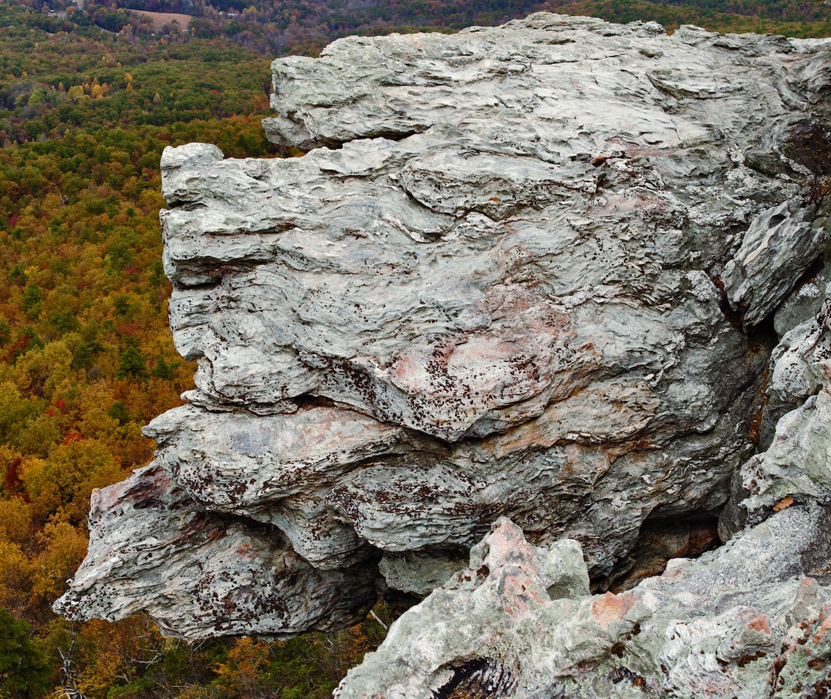North Carolina fall at Hanging Rock State Park