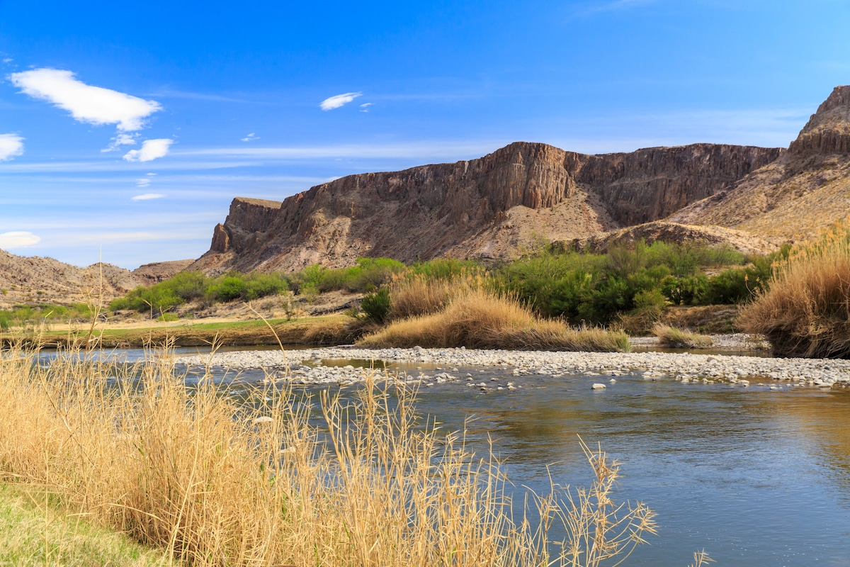 The Rio Grande along the Texas Mexico Border.