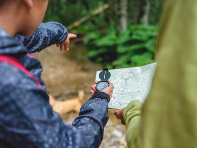 Map and compass basics in the wild