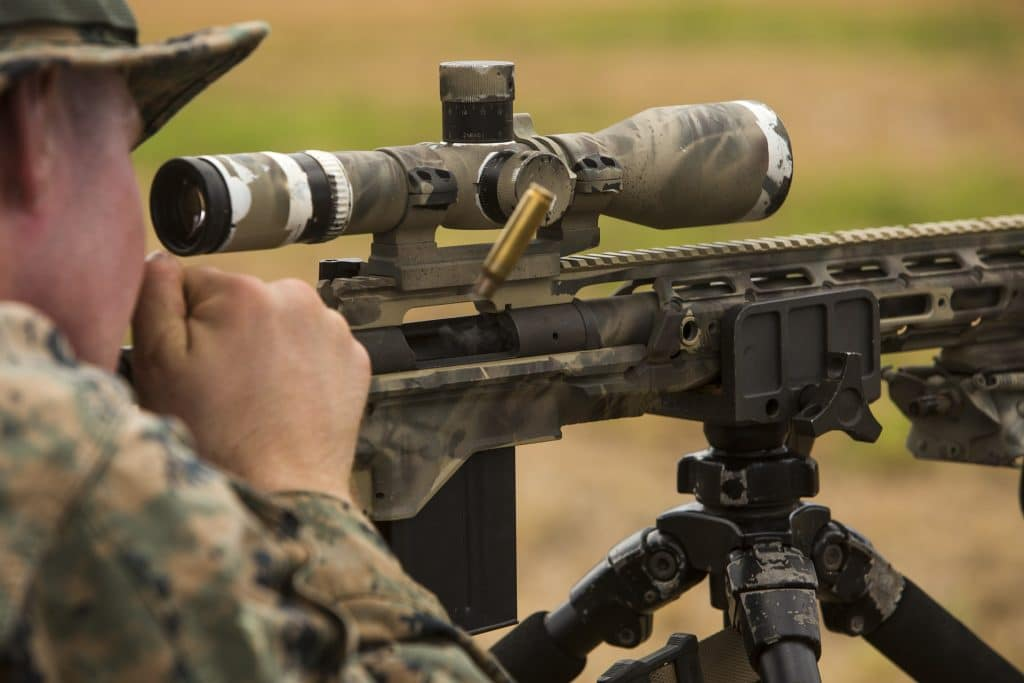 marine sniper with rifle