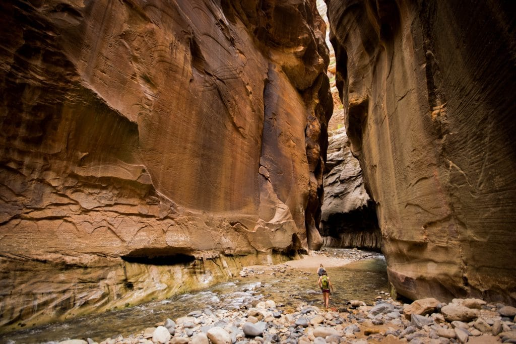 The Narrows is an iconic hike at Zion National Park.