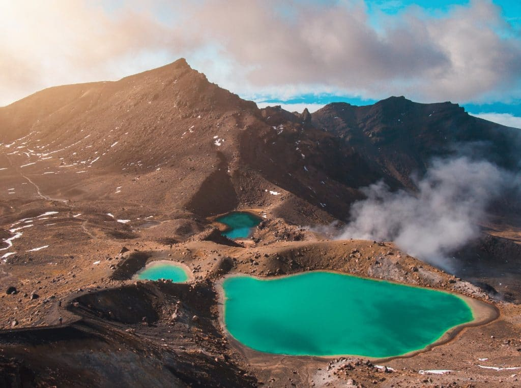 Dramatic volcanic alpine vistas greet you along the Tongariro Alpine Crossing, one of the most popular sections of the Tongariro Circuit.