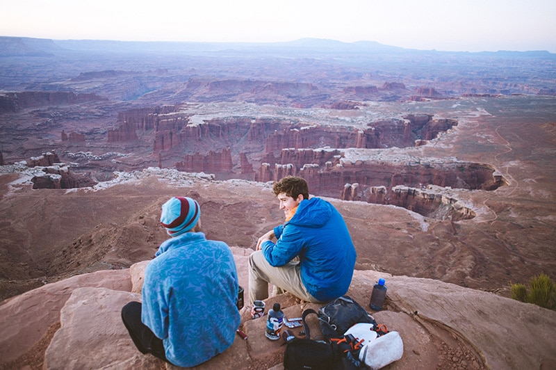 Getting to a 4x4 campsite in Canyonlands Park