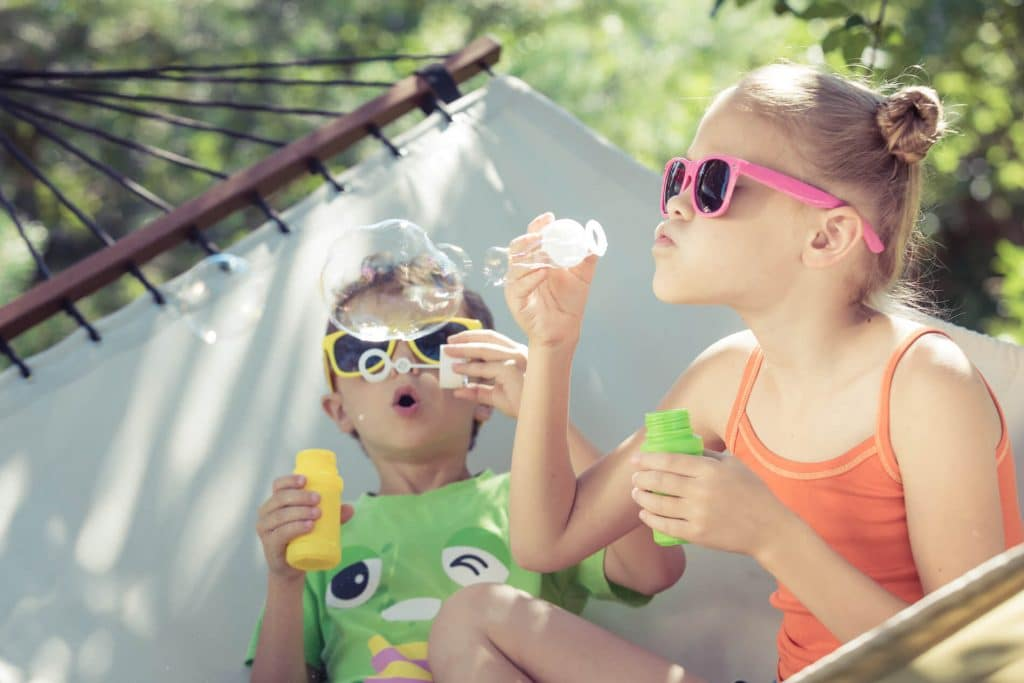 Fun with bubbles camping crafts