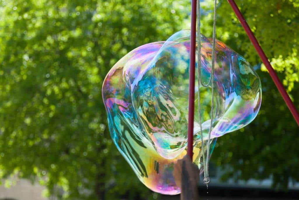 Mega bubbles camping craft activity