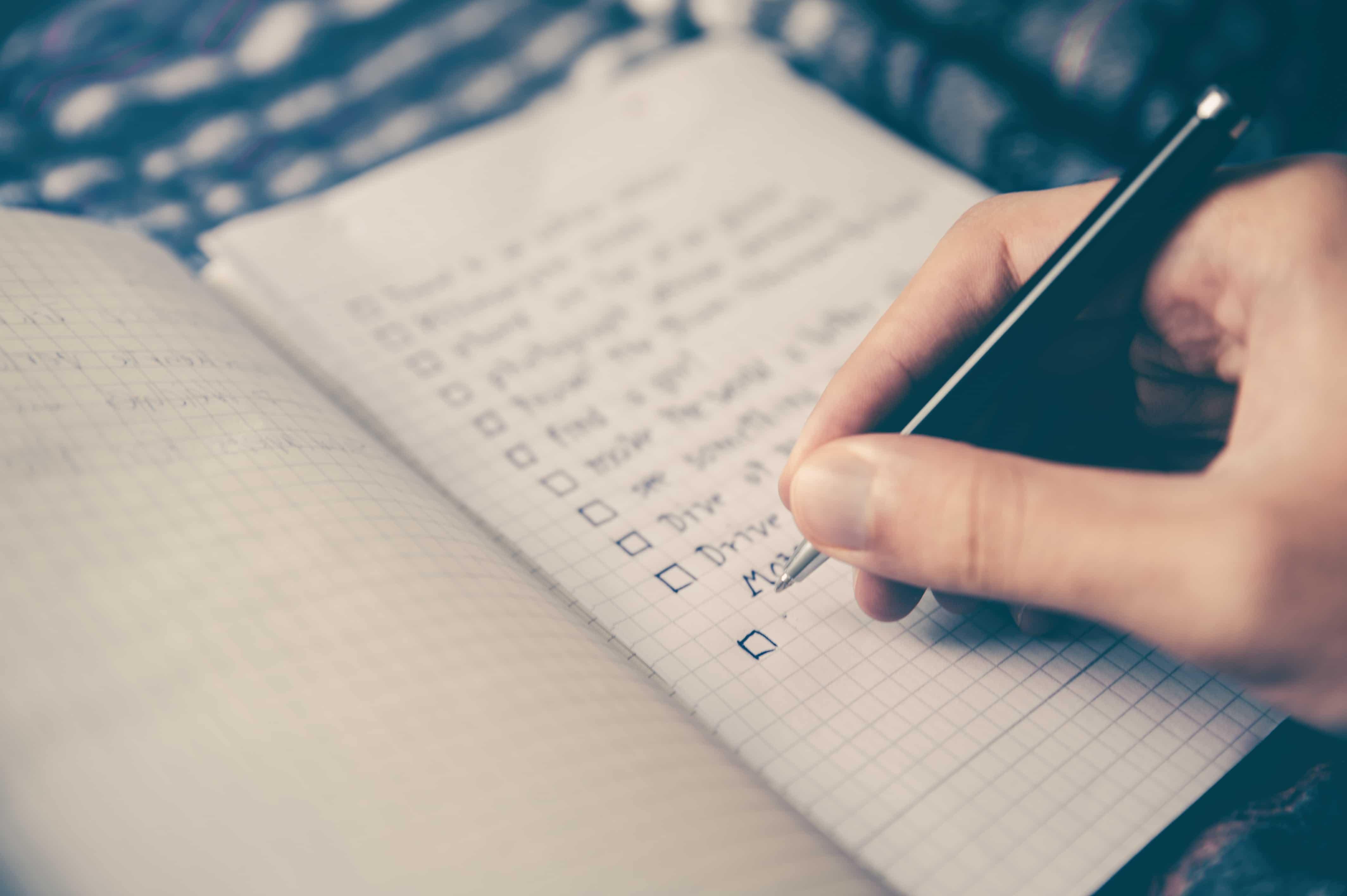 RV camping checklist