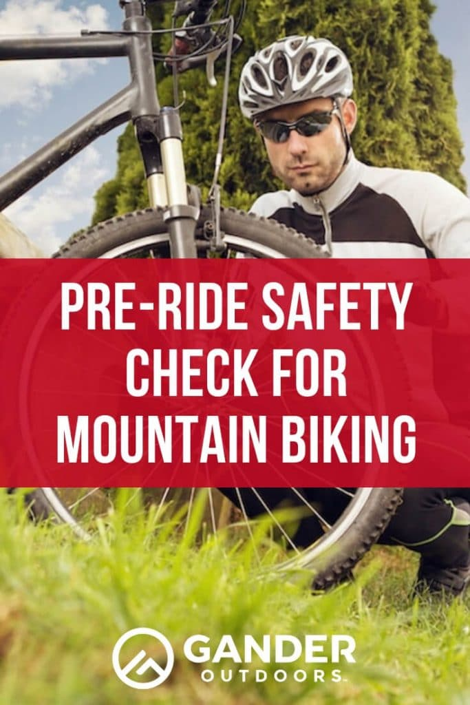 Pre-ride safety check for mountain biking