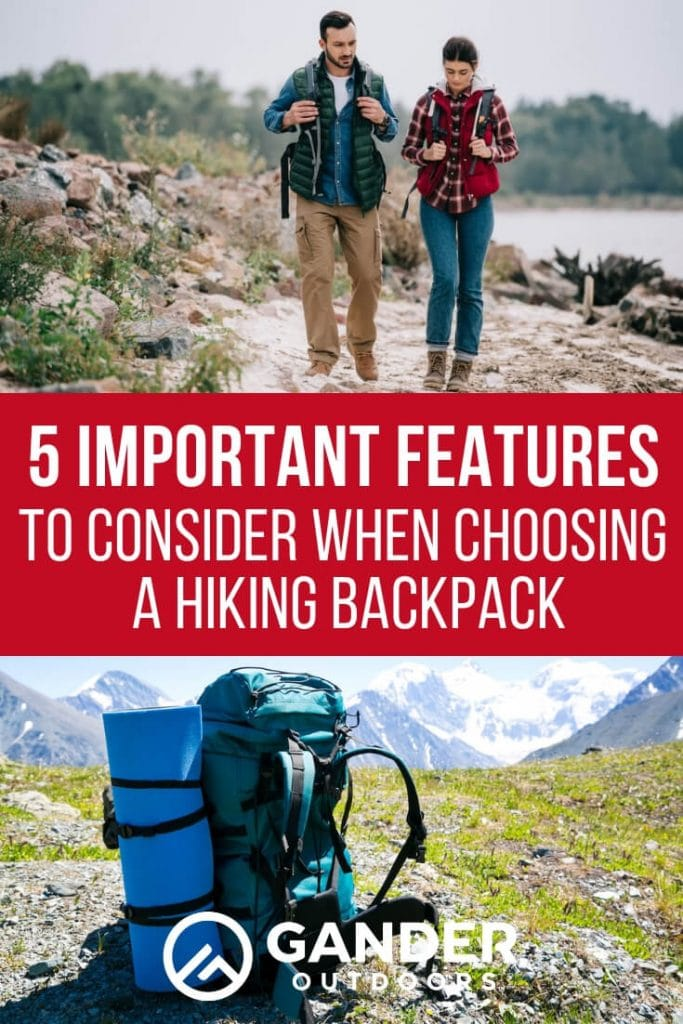 5 important features to consider when choosing a hiking packpack