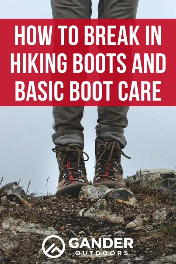 How to break in hiking boots and basic boot care