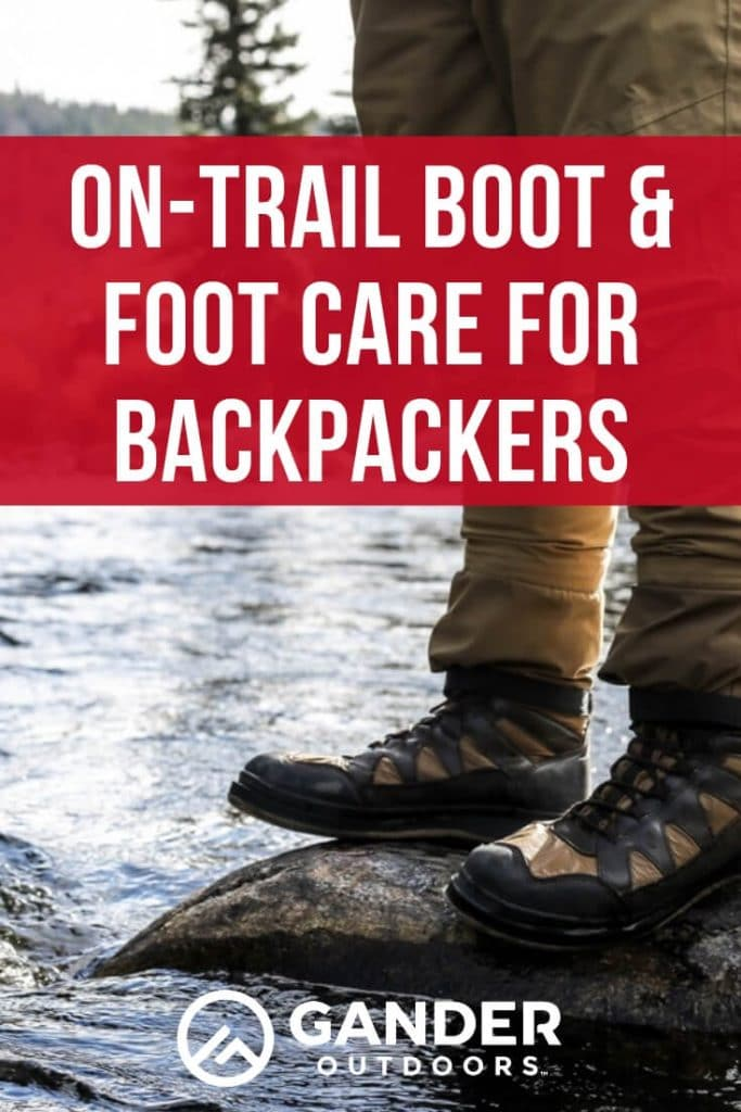 On-trail boot and foot care for backpackers