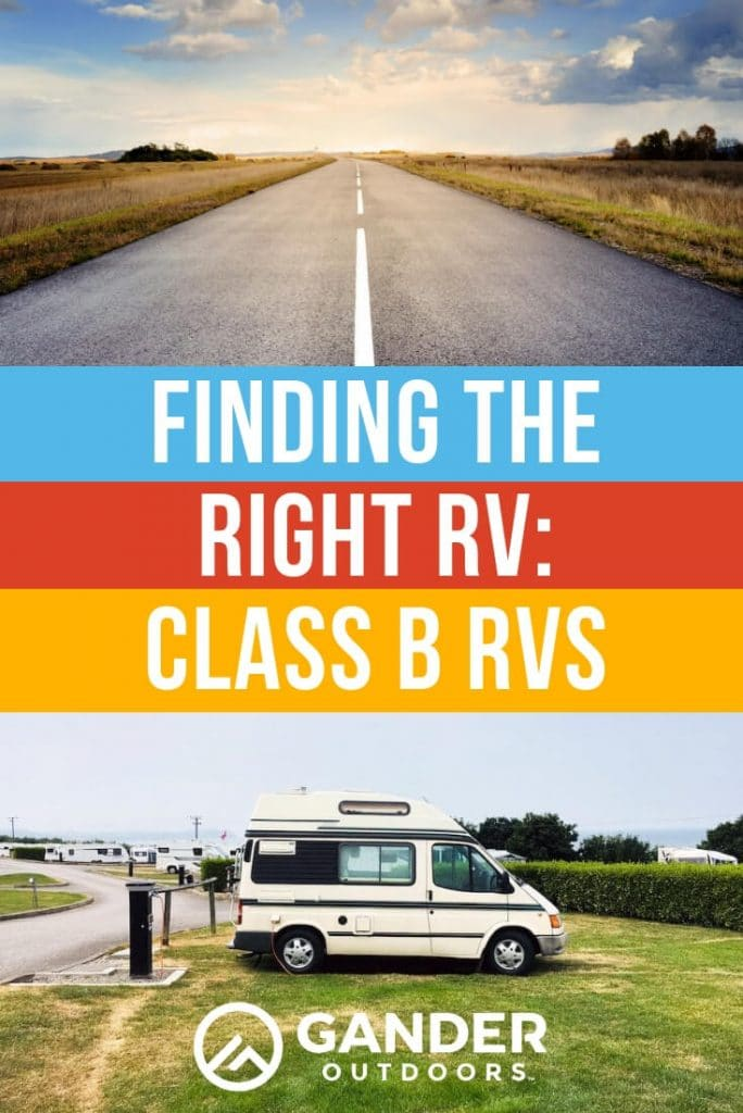 Finding the right RV - Class B RVs
