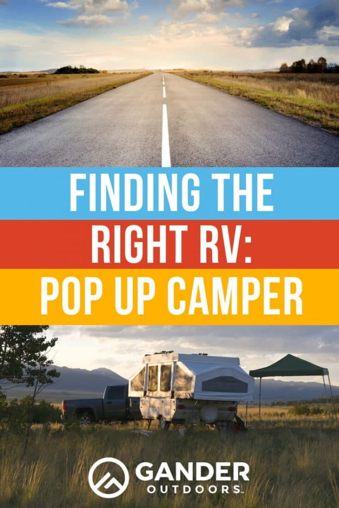 Finding the right RV - pop up camper