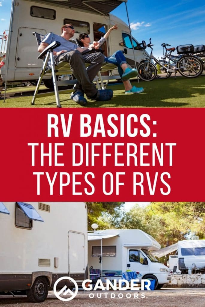 RV Basics - The Different Types of RVs
