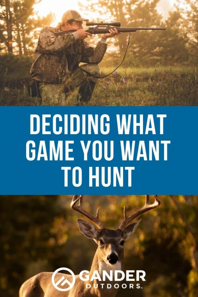 Deciding what game you want to hunt