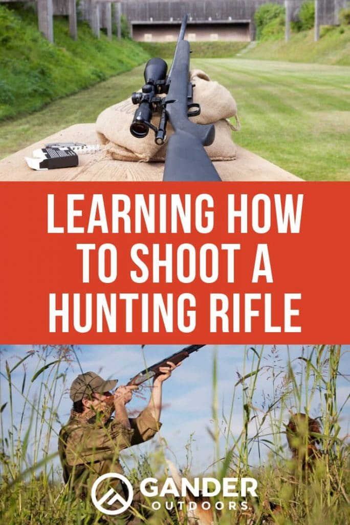 Learning how to shoot a hunting rifle