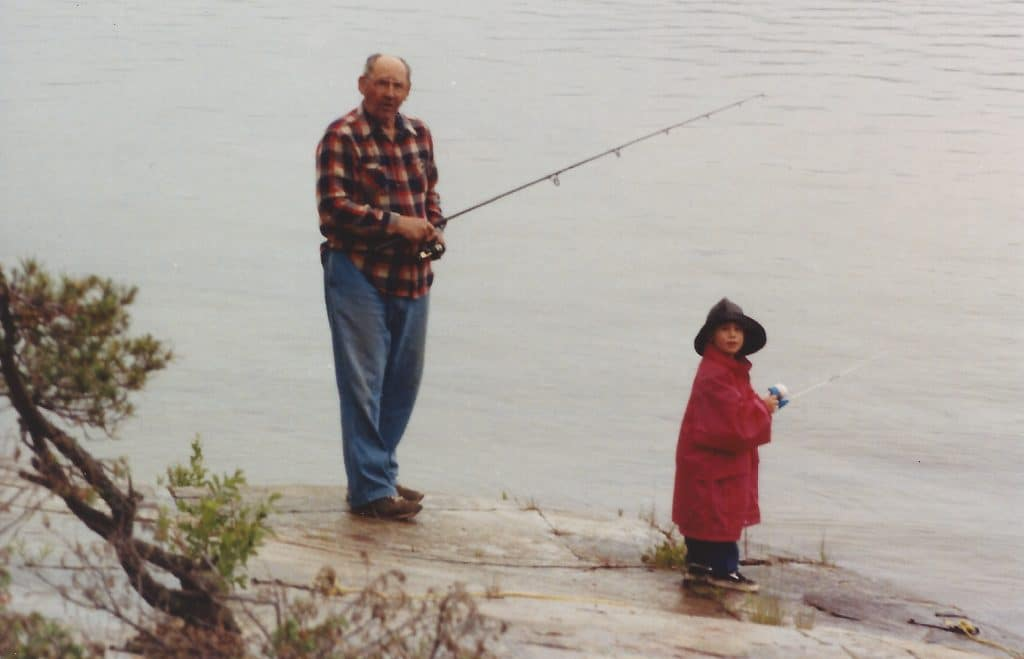 fishing with grandparents