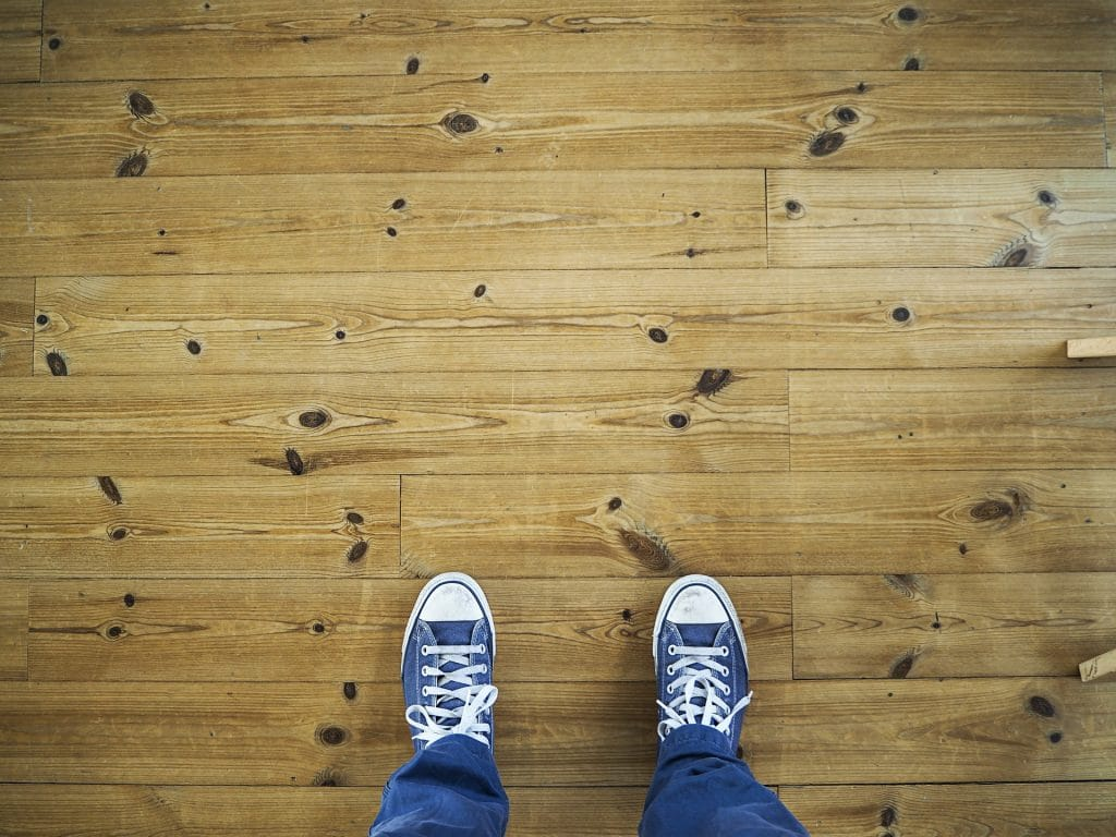wood flooring in an RV
