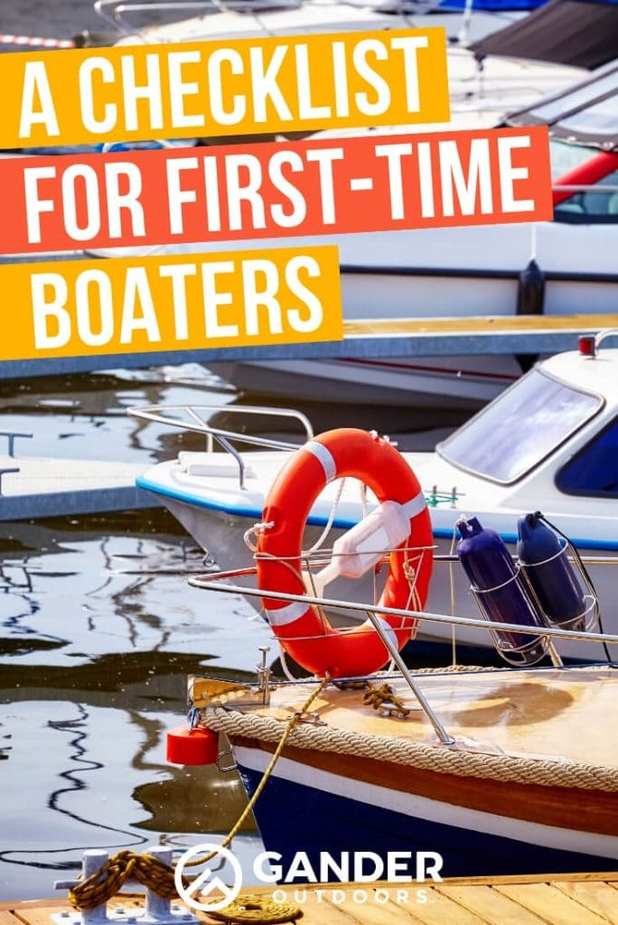 A checklist for first time boaters