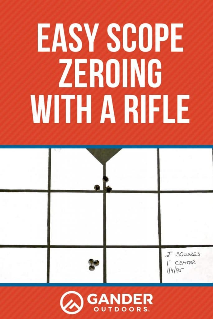 Easy scope zeroing with a rifle