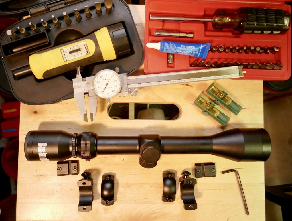 Proper tools for mounting a scope