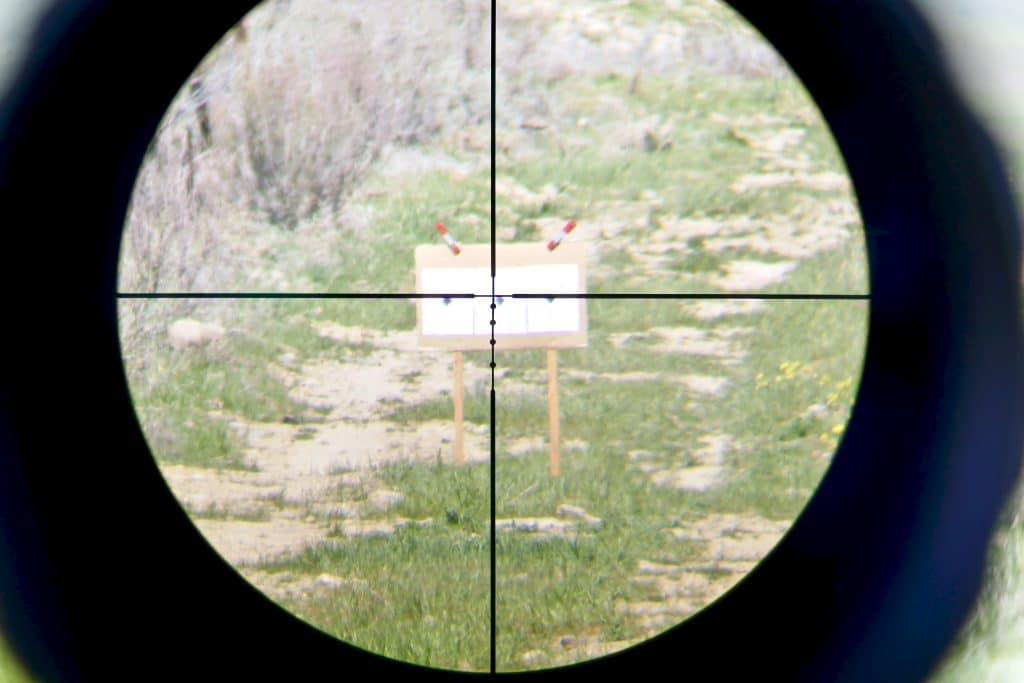 100 yard target bore sighting