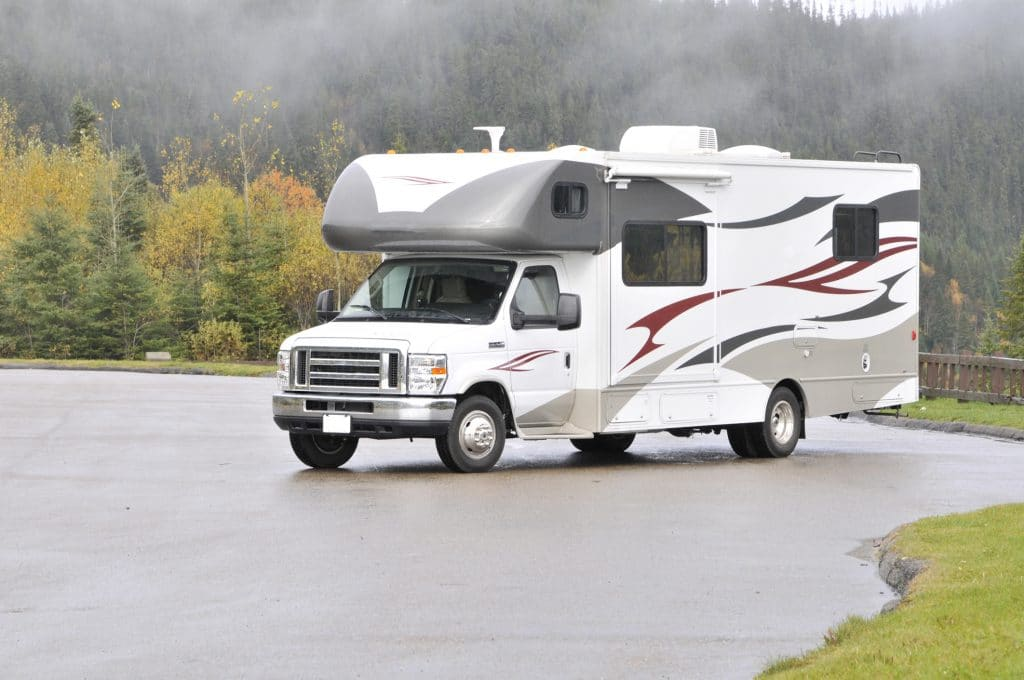 the exterior of an RV