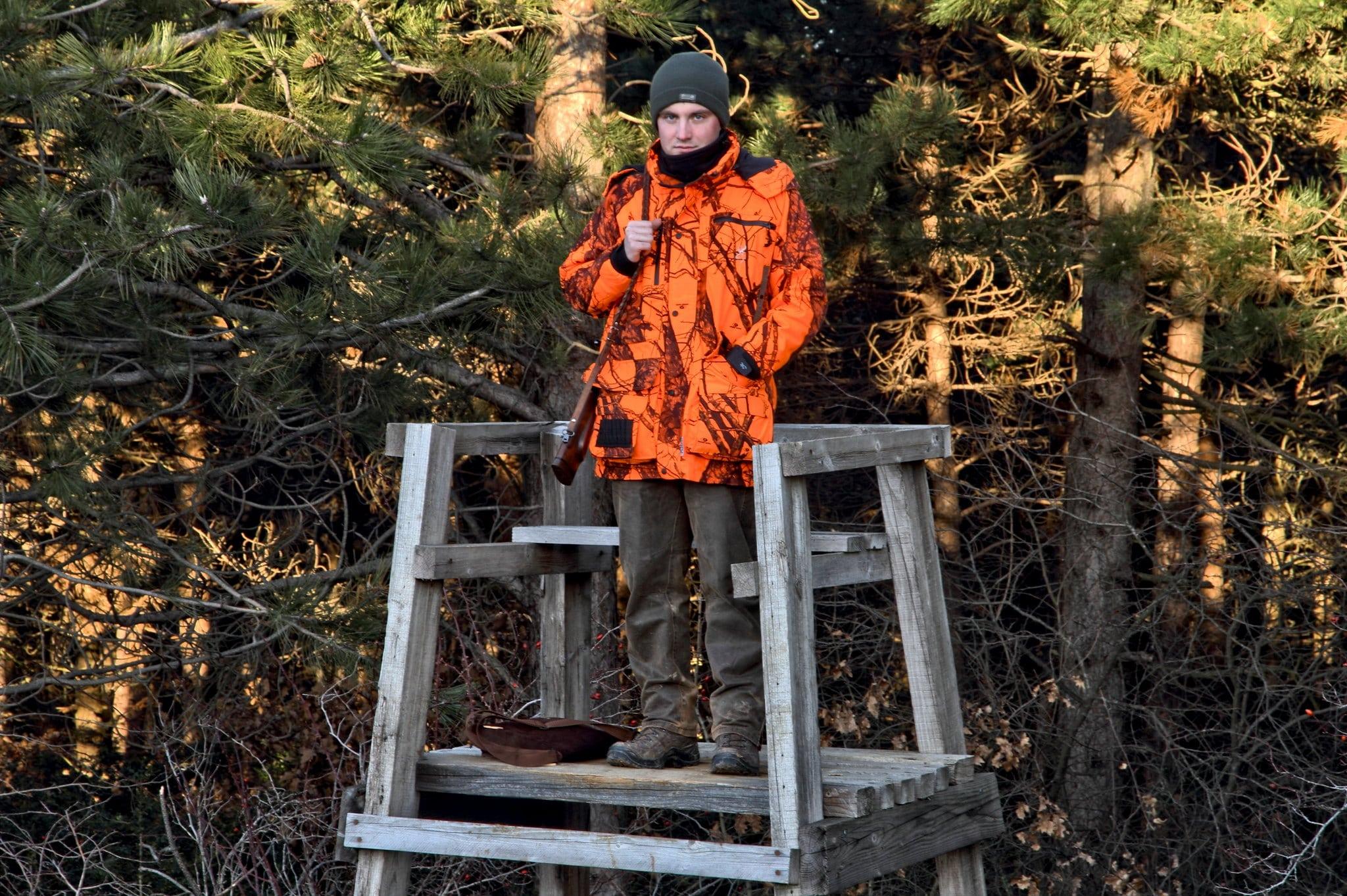 Hunter in Orange Jacket - PC The hunter via Flickr
