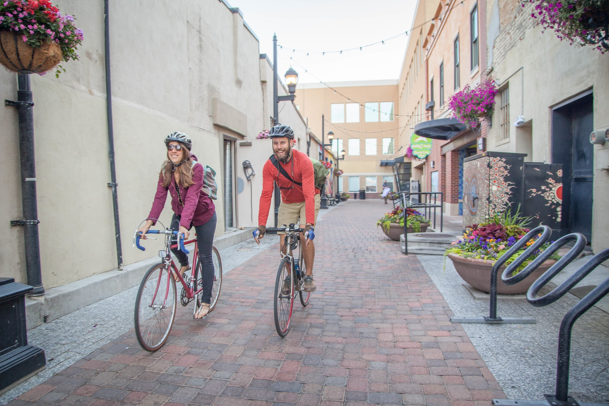 Biking Downtown Fort Collins