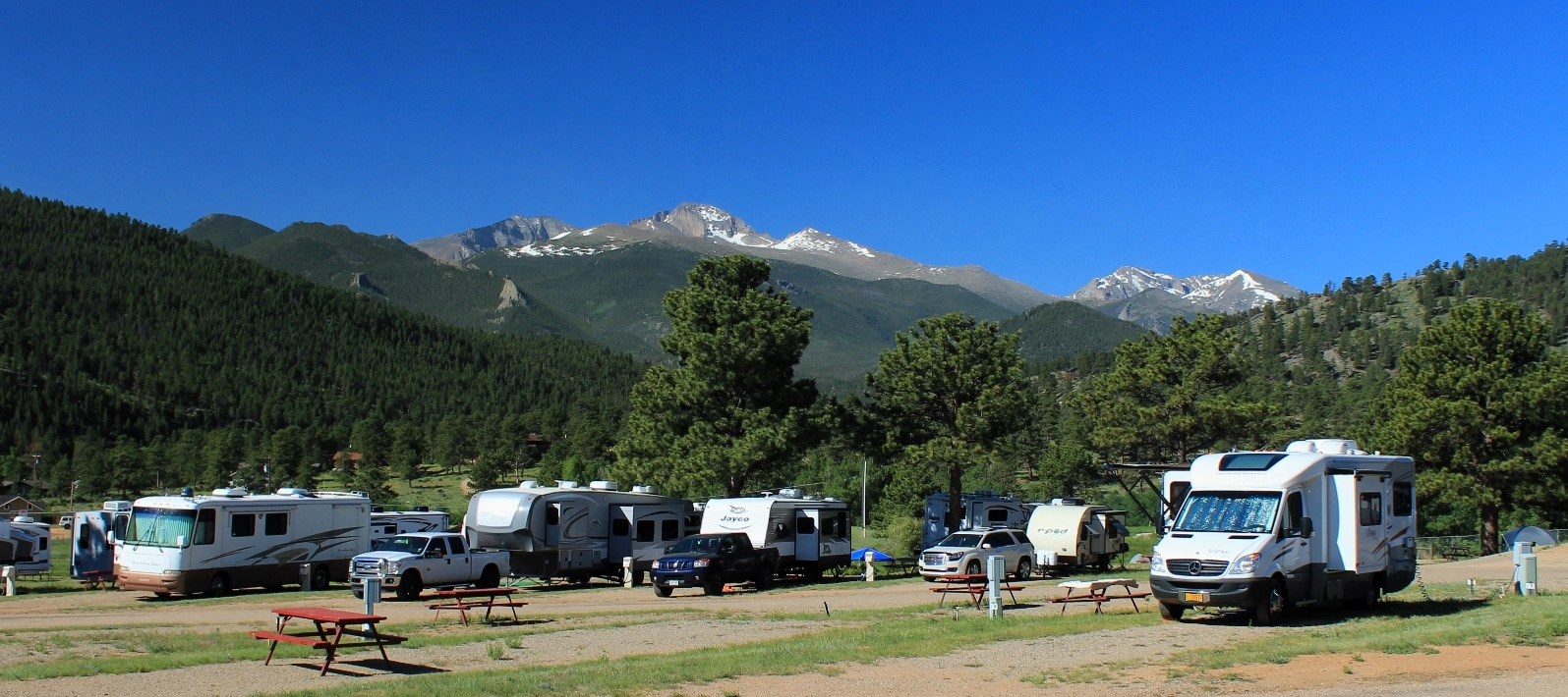 RV Park in Rocky Mountains
