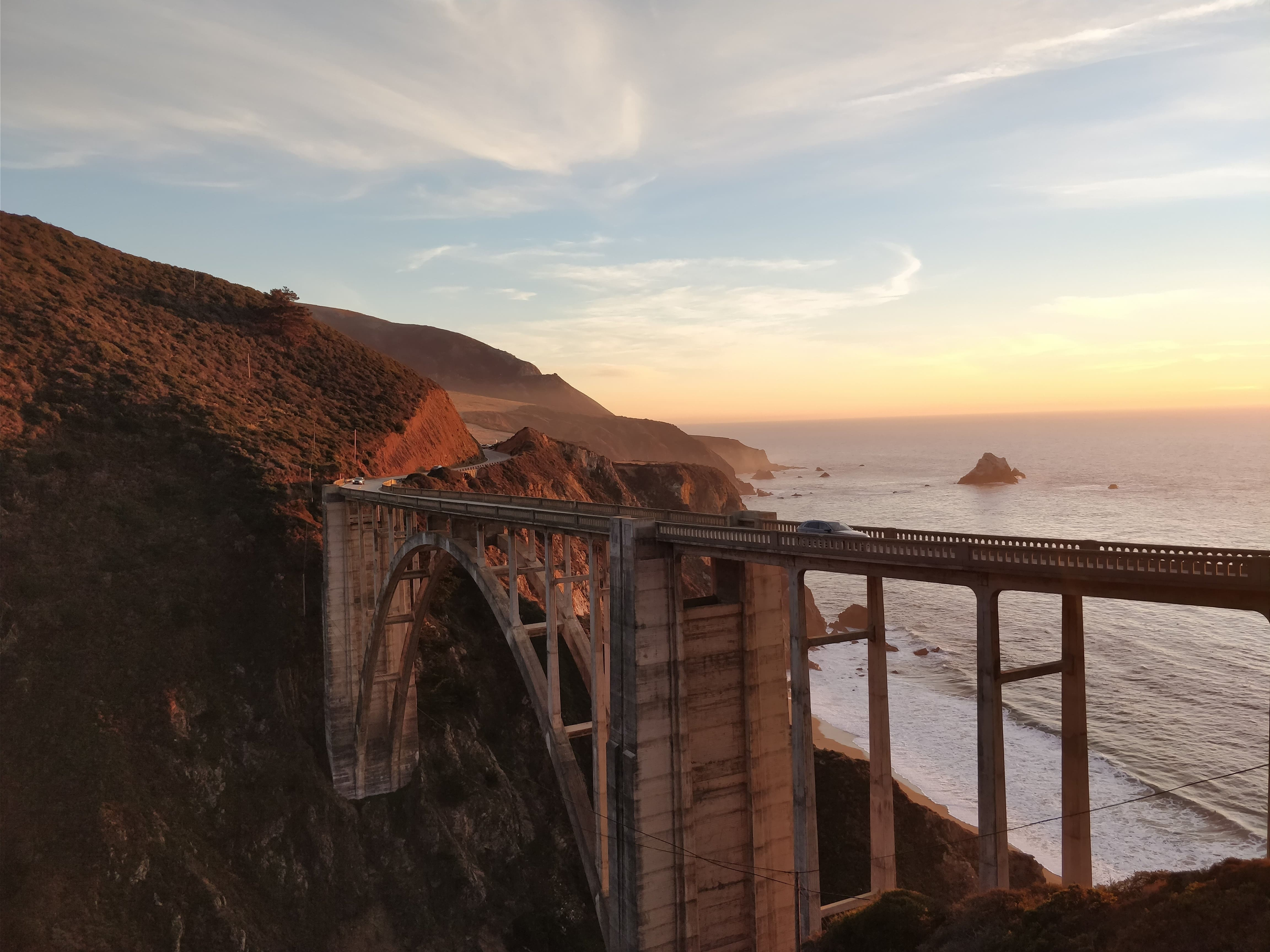 Sunset on Big Sur Coastline