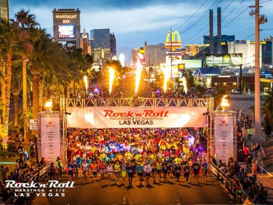 Rock 'N' Roll marathon start line