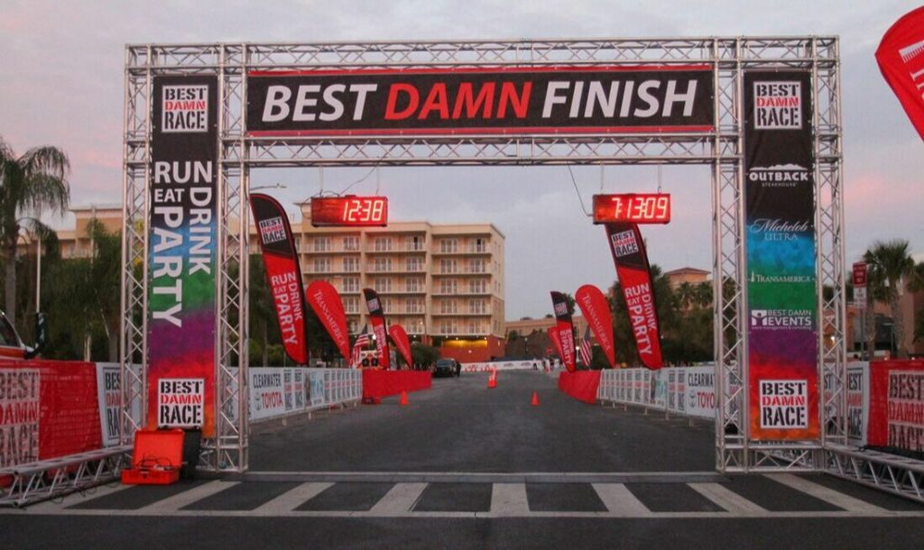 Best Damn Race finish line